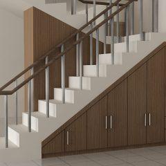 lemari tangga double
